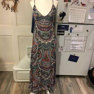 Billabong maxi dress open cut back